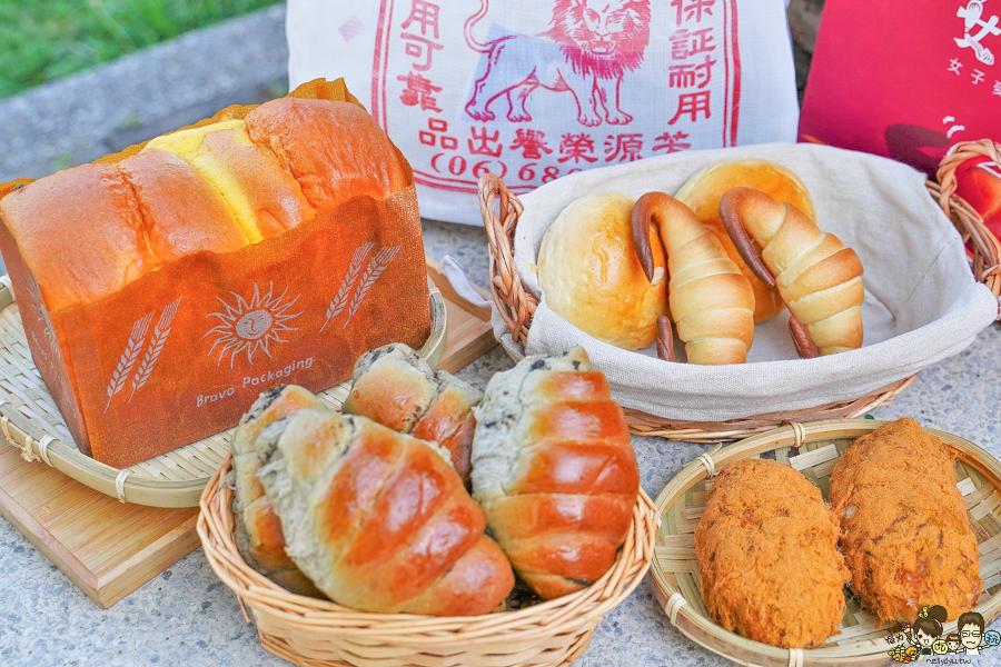台南美食 排隊 限量 快閃 麵包 點心 蛋糕 吐司 伴手禮 好吃 女子麥面包