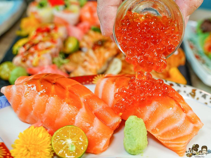 台南 鮭魚 浮誇鮭魚 好吃 鮭魚控 壽司 日式料理 網美 台南美食 最浮誇